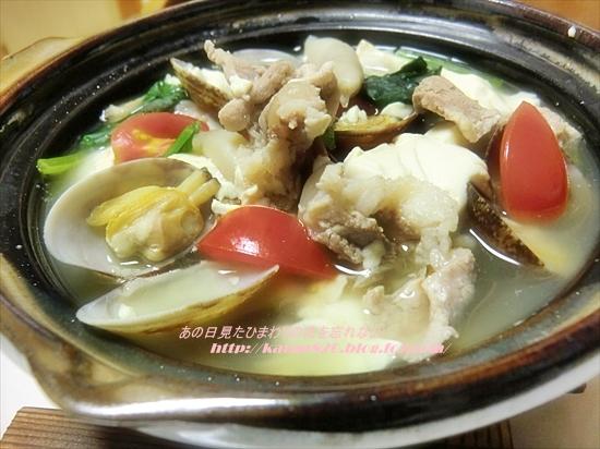 あさりと豆腐の鍋♪