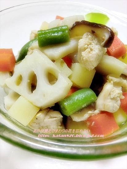鶏肉と根菜の煮物♪