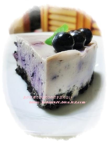 豆腐とブルーベリーのレアチーズケーキ♪