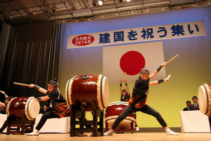 広島文教女子大付属高校和太鼓部による奉納太鼓