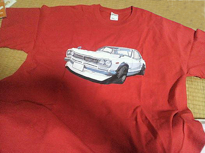オリジナルのハコスカTシャツ