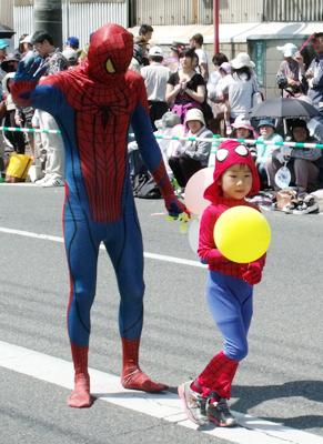 スパイダーマン親子?