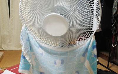 扇風機を冷風扇にカスタムチューンナップ