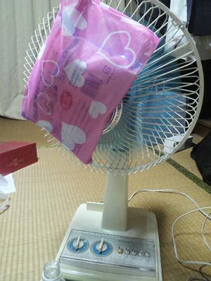 保冷剤で冷風扇もどき