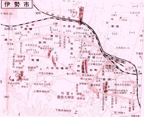 伊勢の地図