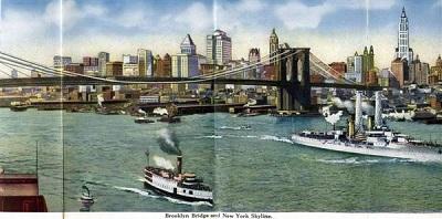 えはがき橋と船