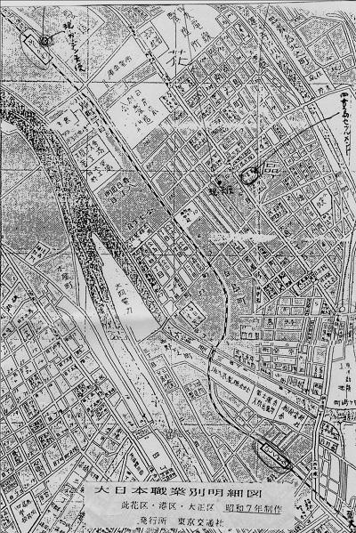 74-10セツルメント周辺の地図
