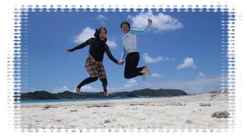 喜びのジャンプ