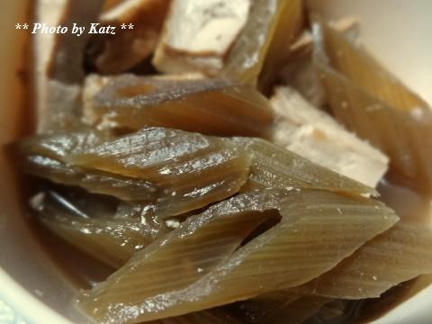 蕗と厚揚げの煮物