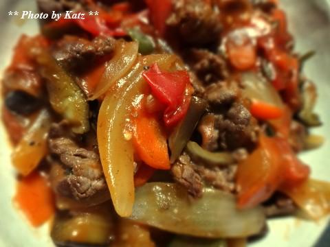 牛と野菜のトマト炒め