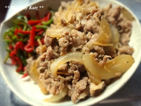 豚こま肉にんにく生姜焼き