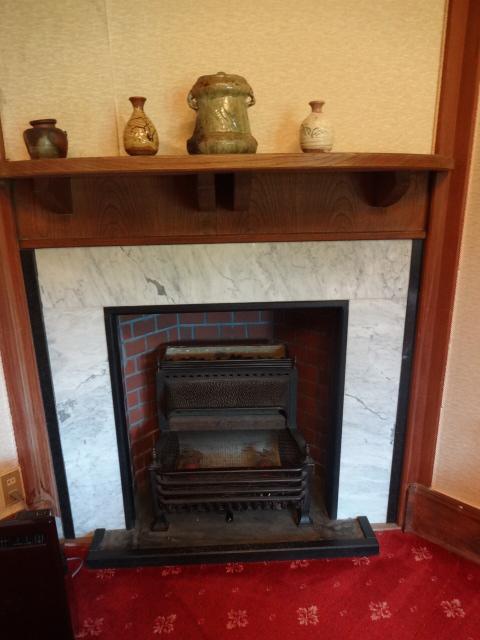 翠州亭 さつきの間 暖炉