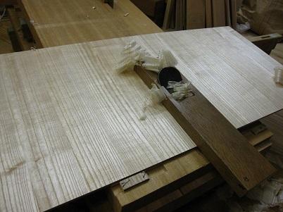 桐たんす再生、裏板を新しく造る
