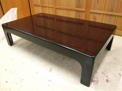 漆、溜塗りの座卓