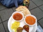 インド大使館で昼食