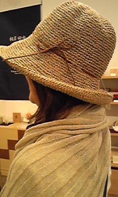ささ和紙帽子、ストール