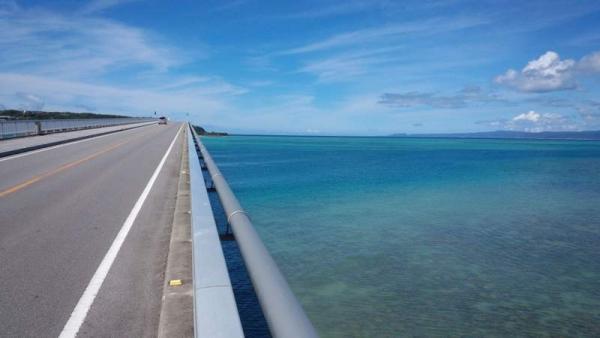 橋 右の海