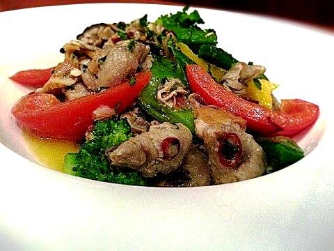 季節野菜と牡蠣のアーリオオーリオ