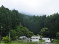 8:50 集落から剣森山が見えるはず・・・