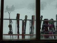レストランから スキーの人も比較的多いネ、明宝スキー場