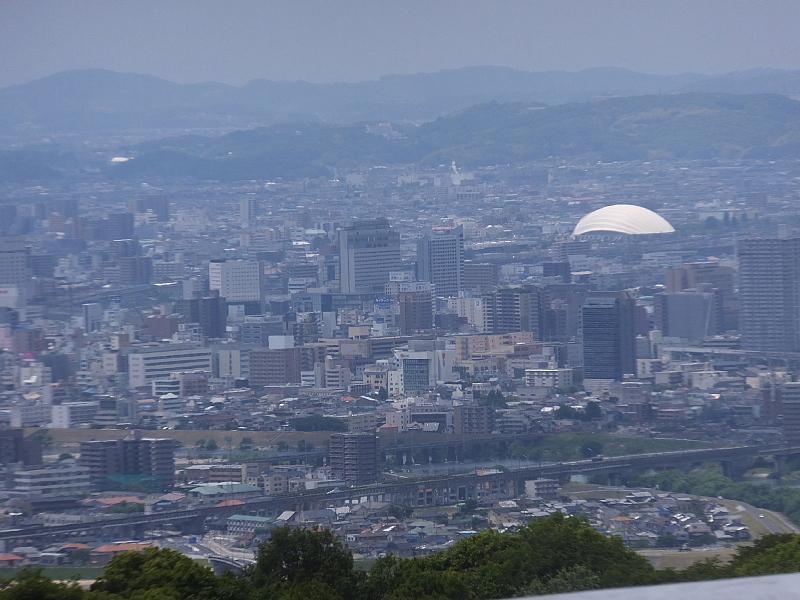 龍ノ口山 山頂からの展望 岡山ドーム 西バイパス