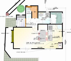 1階 平面図H邸リフォーム後