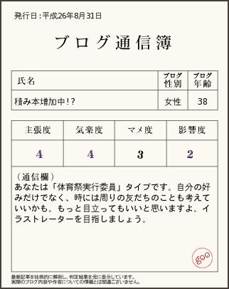 140831 ブログ通信簿