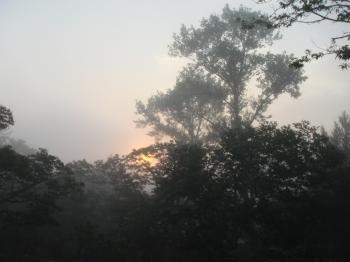 栗山午前5時の日の出