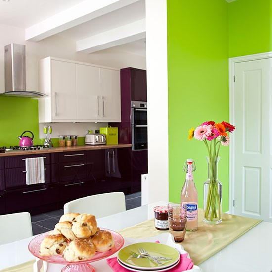 Apple-Green-White-and-Aubergine-Kitchen-Diner-Style-At-Home-Housetohome.jpg