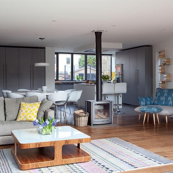 Beautiful White And Gray Kitchen: はまりごと モダン グレーのキッチンはかっこいい