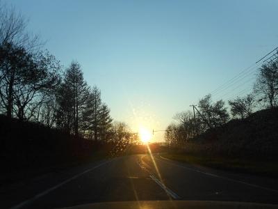 しかし美しい夕日
