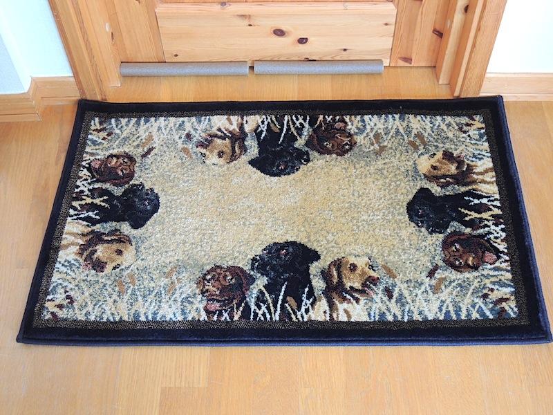 ラブラドールなトルコ絨毯玄関マット1