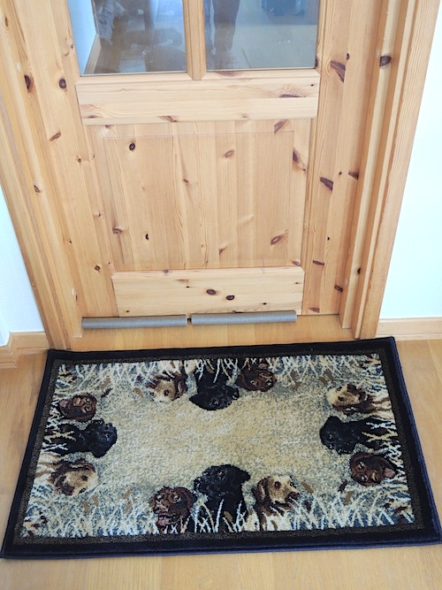 ラブラドールなトルコ絨毯玄関マット2