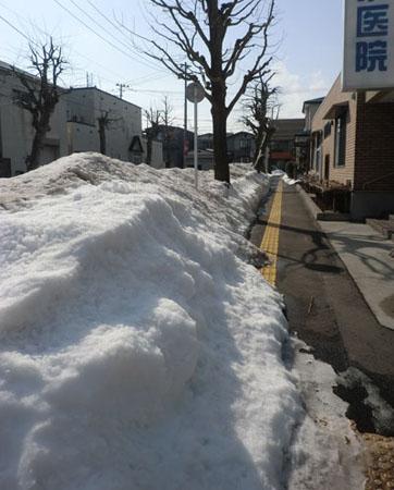 2014-2-28雪どけ