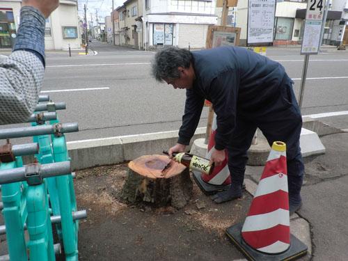 2014-6-14街路樹伐採供養