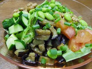 夏野菜たっぷり冷やしうどん