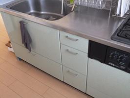 キッチンの手拭きタオル