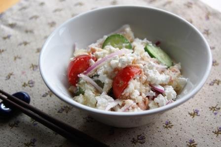 マヨなしポテトサラダw