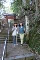 貴船神社へ抜ける山道は木の根道
