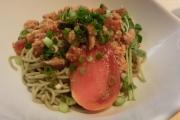 料理6トマト坦々蕎麦