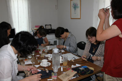 ビーズ織り教室1