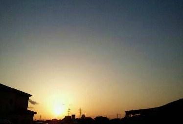 やわらかな夕日