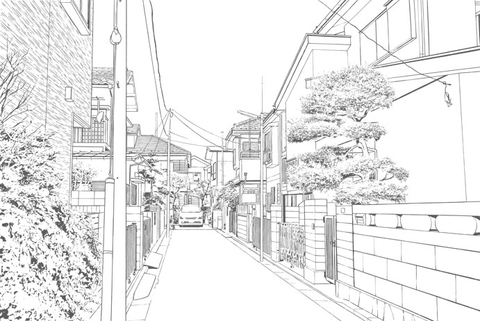 漫画背景・住宅011