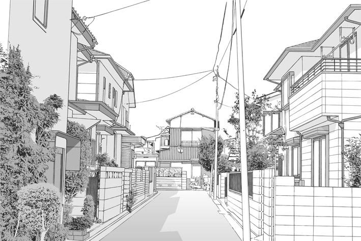 漫画背景・住宅12