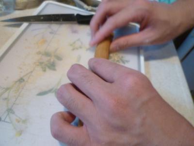 隆のおやつ作り
