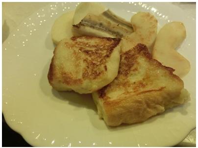 フレンチトースト(焼きバナナ 焼きりんご)