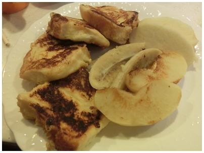 フレンチトースト2(焼きバナナ 焼きりんご)