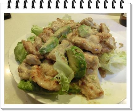260308アボカドと鶏肉の炒め物