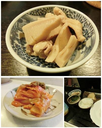 260419タケノコの煮物とキムチ-vert