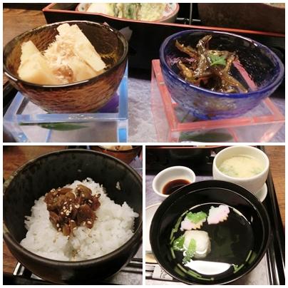260427ひらた3(タケノコ 玉筋魚 ご飯 お汁)